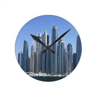 Dubai Sky Line Round Clock