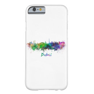Dubai skyline in watercolor barely there iPhone 6 case