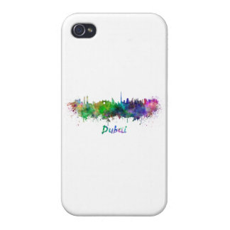 Dubai skyline in watercolor iPhone 4/4S cover