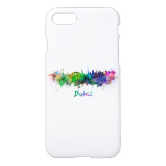 Dubai skyline in watercolor iPhone 8/7 case