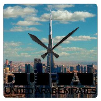 Dubai UAE Souvenir Square Wall Clock