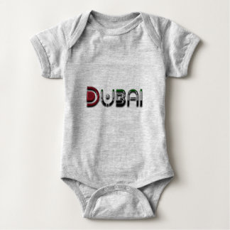 Dubai UAE Typography Elegant Text Only Baby Bodysuit