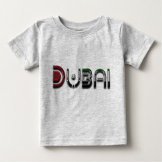 Dubai UAE Typography Elegant Text Only Baby T-Shirt