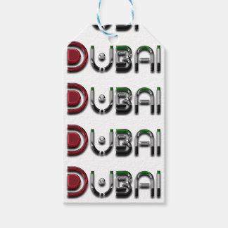 Dubai UAE Typography Elegant Text Only Gift Tags