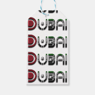 Dubai UAE Typography Elegant Text Only Pack Of Gift Tags