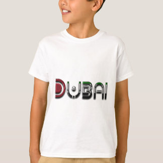 Dubai UAE Typography Elegant Text Only T-Shirt