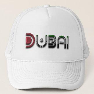 Dubai UAE Typography Elegant Text Only Trucker Hat
