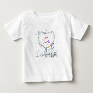 Dubai world city, Heart Water splash Baby T-Shirt