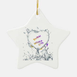 Dubai world city, Heart Water splash Ceramic Ornament