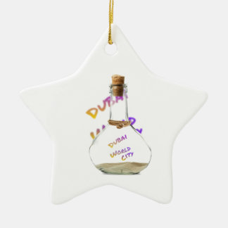 Dubai world city, Water Bottle Ceramic Ornament