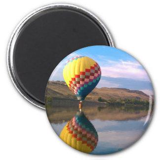 Dubble RAINBOW.  Hotair balloon on the snake river Magnet