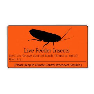 Dubia Roach Label