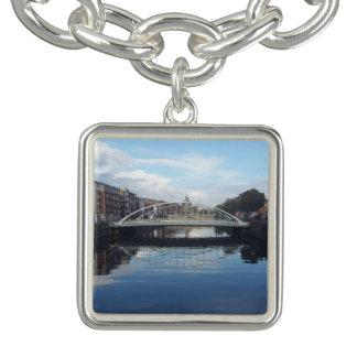 Dublin Bridge Landscape Charm Bracelet
