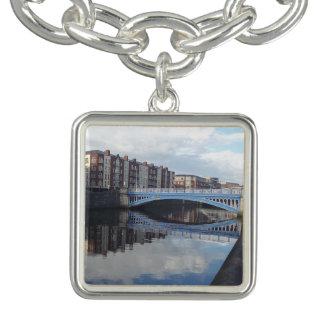 Dublin Bridge Reflection Charm Bracelet
