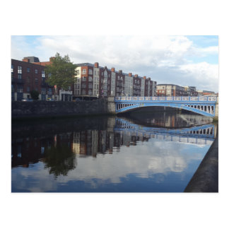 Dublin Bridge Reflection Postcard