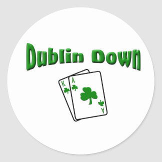 Dublin Down Classic Round Sticker