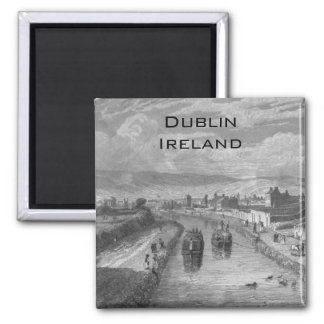 Dublin from Blaquiere Bridge, Royal Canal, Ireland Magnet