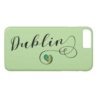 Dublin Heart Cell Phone Case, Ireland iPhone 8 Plus/7 Plus Case