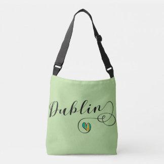 Dublin Heart Customizable Bag, Ireland Irish Crossbody Bag
