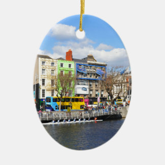Dublin. Ireland Ceramic Oval Ornament
