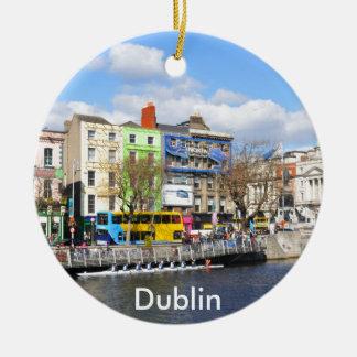 Dublin. Ireland Round Ceramic Ornament