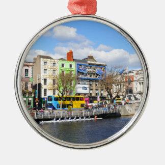 Dublin. Ireland Silver-Colored Round Ornament
