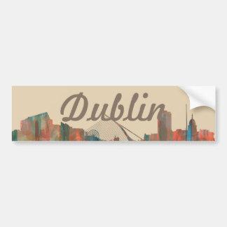 Dublin  Ireland Skyline-Navaho Bumper Sticker