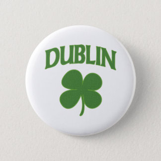 Dublin Irish Shamrock 2 Inch Round Button