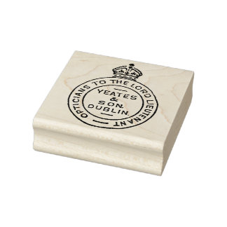 Dublin Optician Royal Seal Vintage Art Stamp