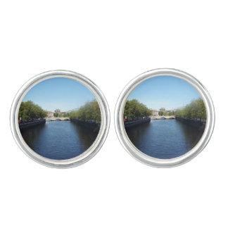Dublin River Liffey Bridge Cufflinks