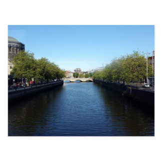 Dublin River Liffey Bridge Postcard