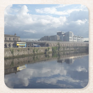 Dublin Riverbank Reflection Coaster