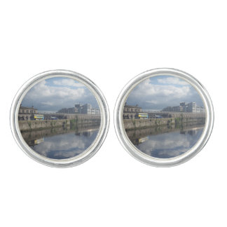 Dublin Riverbank Reflection Cufflinks