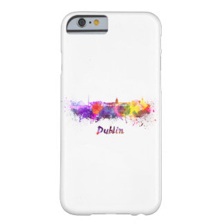 Dublin skyline in watercolor barely there iPhone 6 case