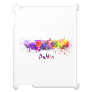 Dublin skyline in watercolor case for the iPad 2 3 4