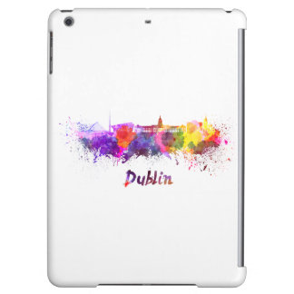 Dublin skyline in watercolor iPad air covers