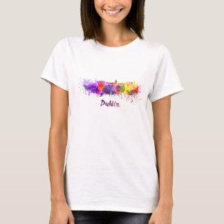 Dublin skyline in watercolor T-Shirt