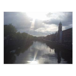 Dublin Sunrise Reflection Postcard