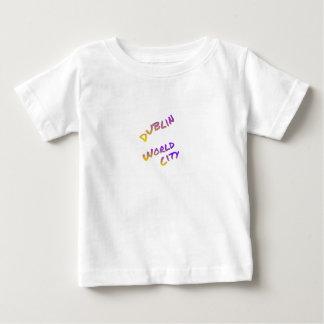 Dublin world city, colorful text art baby T-Shirt