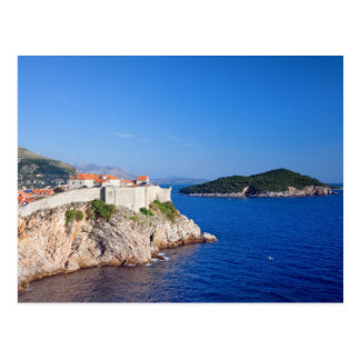 Dubrovnik and Lokrum Island on the Adriatic Sea Postcard