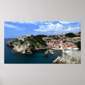 Dubrovnik Castle Poster