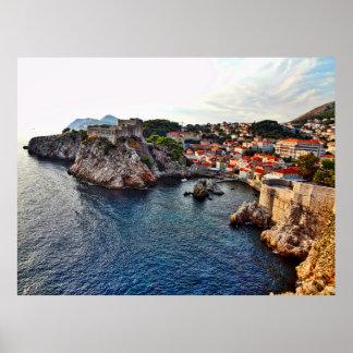Dubrovnik, Croatia Castle Poster