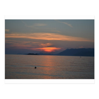 Dubrovnik, Croatia Sunset Postcard