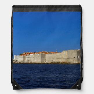 Dubrovnik old city, Croatia Drawstring Bag
