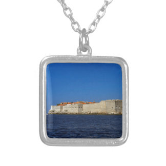 Dubrovnik old city, Croatia Silver Plated Necklace