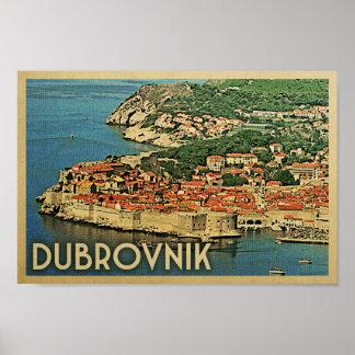 Dubrovnik Poster Vintage Travel Poster Croatia