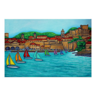 Dubrovnik Regatta Print by Lisa Lorenz