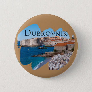 Dubrovnik with a View 2 Inch Round Button