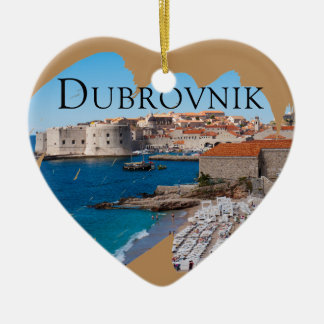 Dubrovnik with a View Ceramic Ornament
