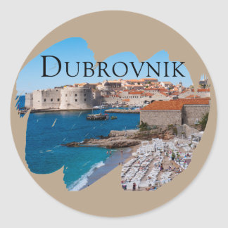 Dubrovnik with a View Classic Round Sticker